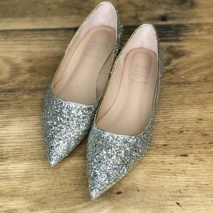 Sparkly Glitter Silver & Gold Flats